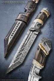 Custom handmade tactical knife