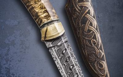 Fixed damascus knife avalible