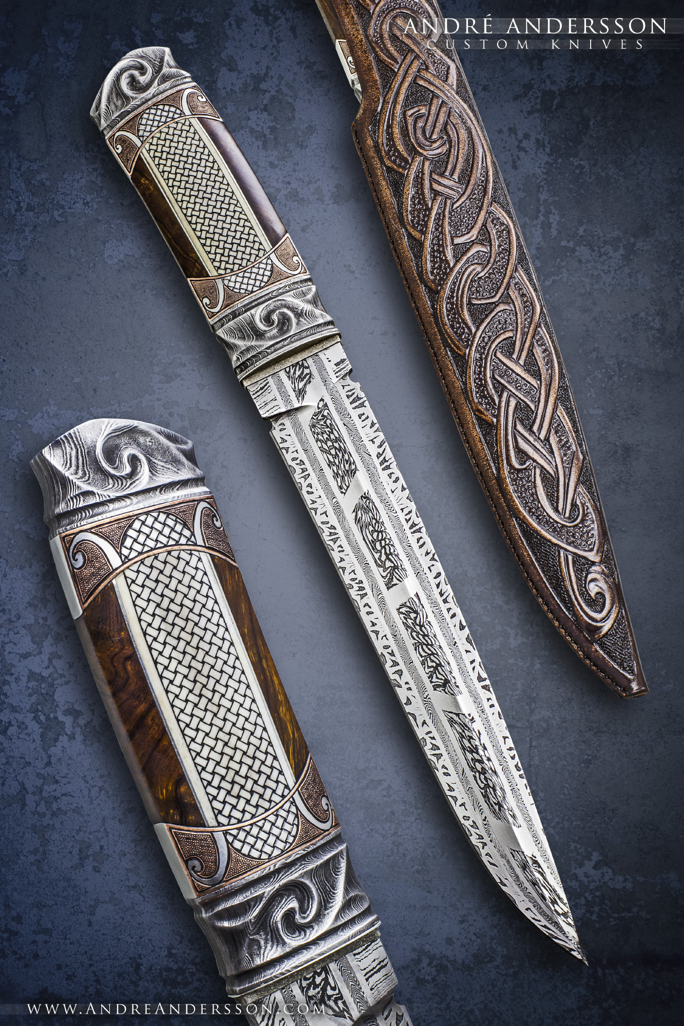 Large Fixed Blade André Andersson Custom Knives