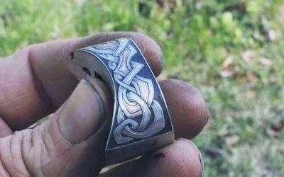 Steel engraving on bolster
